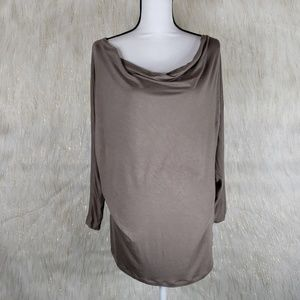 Old Navy Taupe Scoop Neck Shirt